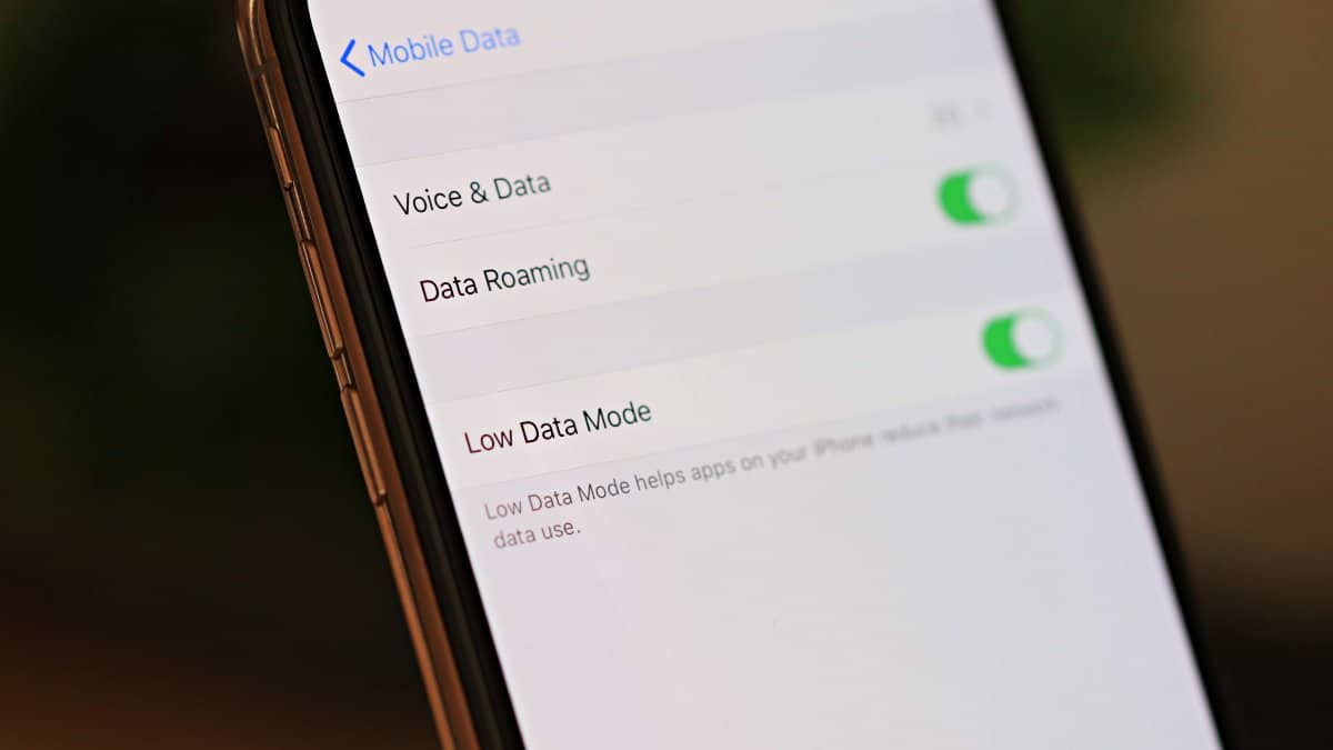iPhone Low Data Mode WiFi Mobile Data iOS 13