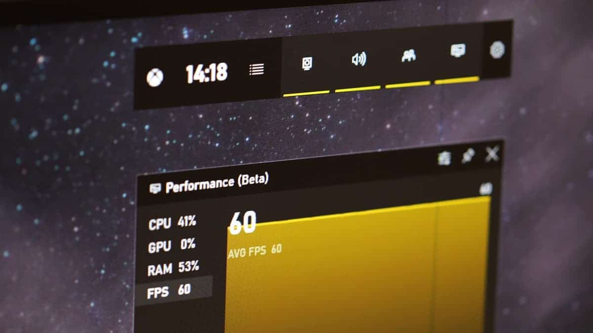 Showing FPS in Windows 10 Game Bar