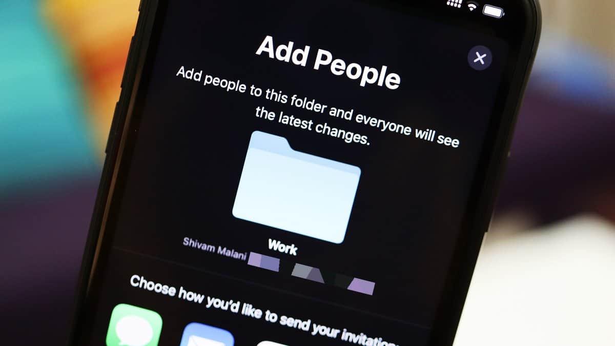iCloud Drive Folder Share iPhone