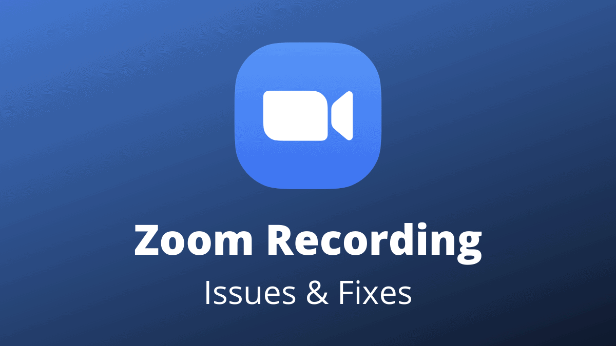 Zoom Recording Fix