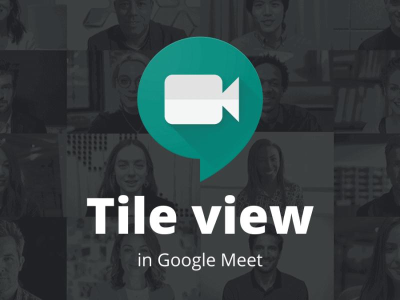 Google Meet Tile View