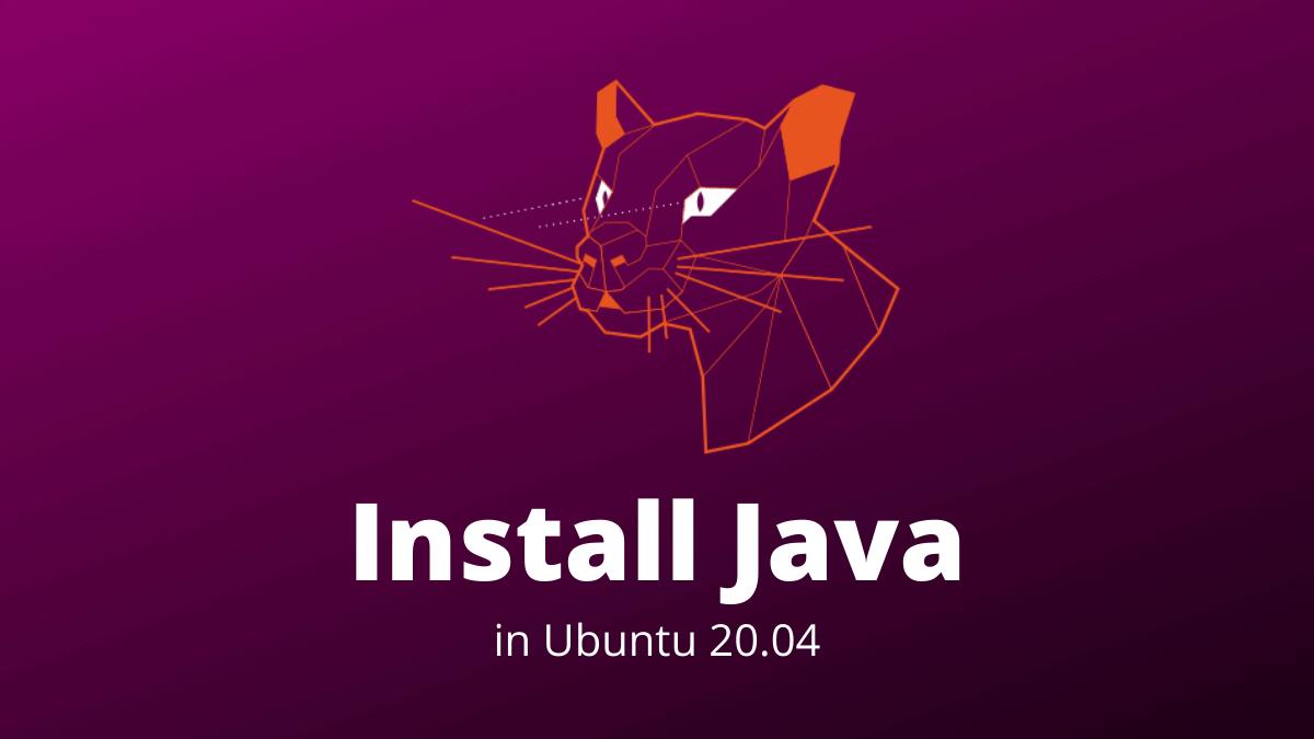 Install Java Ubuntu 20.04