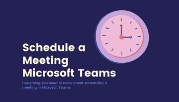 Schedule a Meeting Microsoft Teams