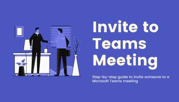 Invite People to Microsoft Teams Meeting