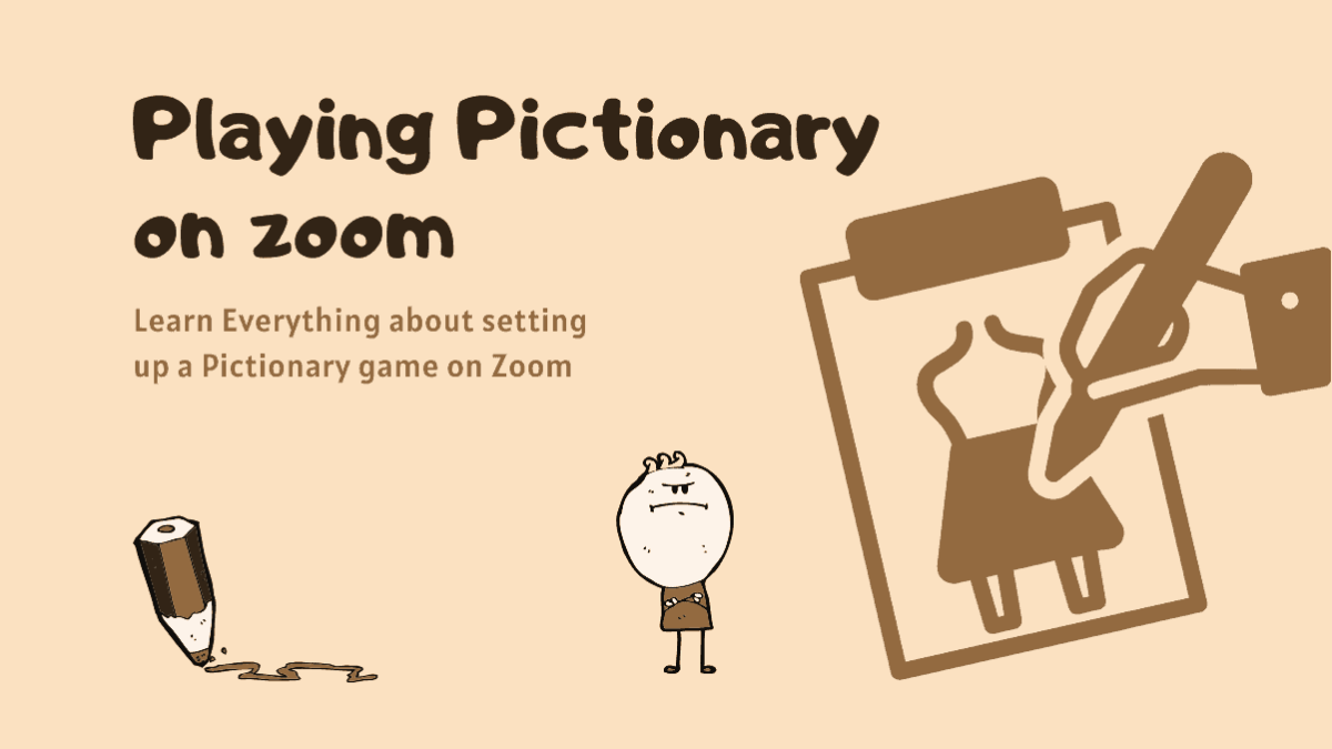 Playing Pictionary on zoom