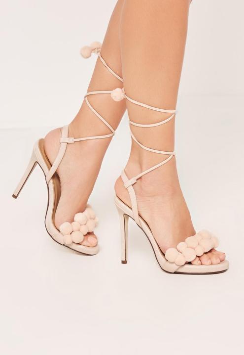 nude-pom-pom-wrap-around-heeled-sandals