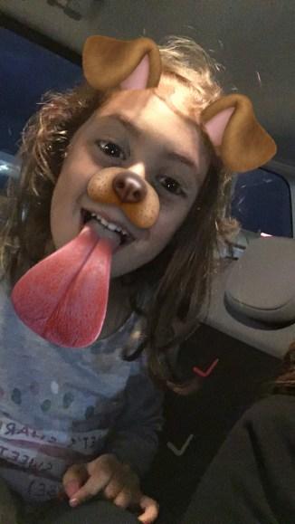 Sofia loves Snapchat filters!
