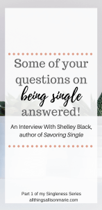 An interview with Shelley Black + review of the book Savoring Single!