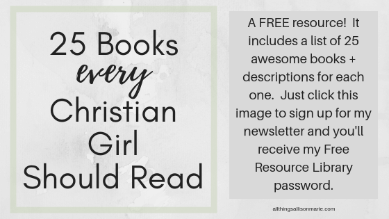 5 Books Every Christian Single Girl Should Read | All Things Allison
