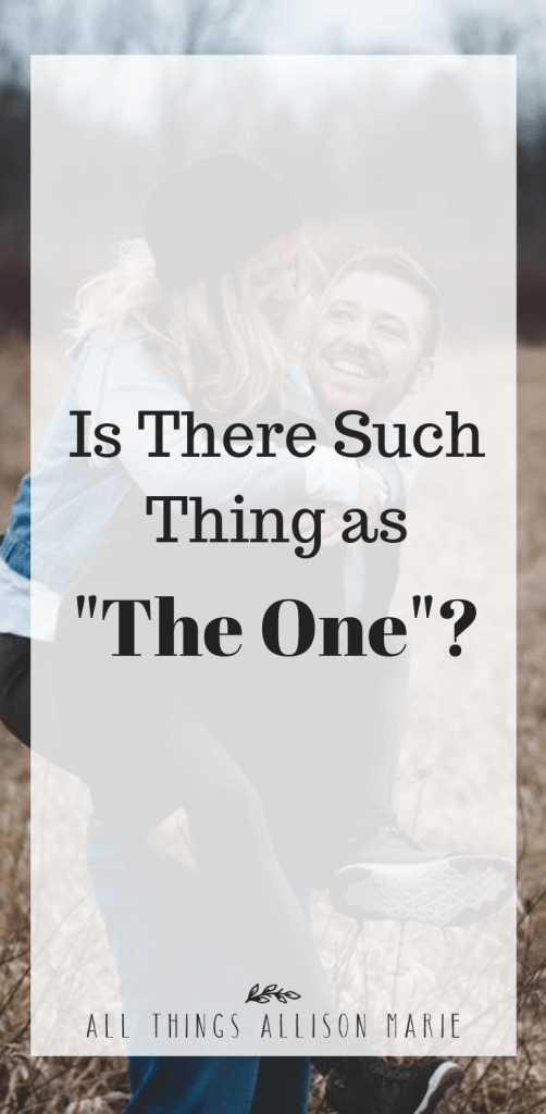 "Is there such a thing as ""the one""?"