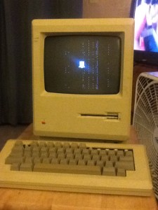 The Mac M0001 Computer the first of the Macintosh line