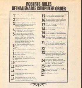 Robert's Rules