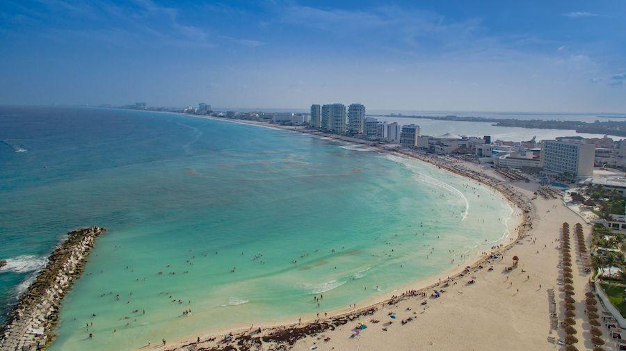 The beautiful beaches of Cancun