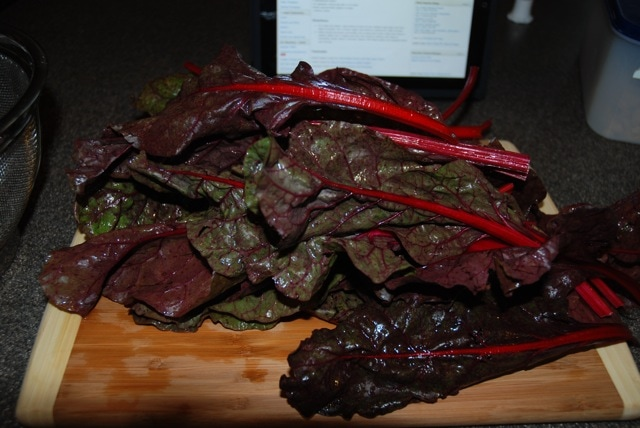 Red chard - before