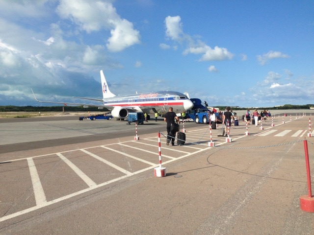 deplaning in Providenciales