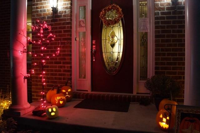 Halloween at night