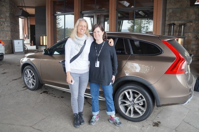 Fadra and Amelia in Volvo V60
