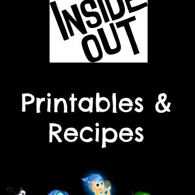 Disney•Pixar's Inside Out Printables & Recipes