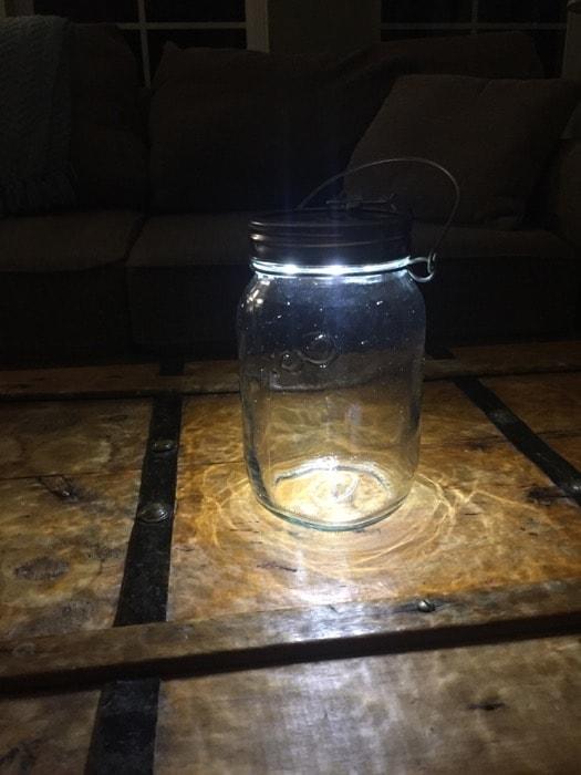 Consol solar jar glow