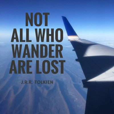Stream of Consciousness Sunday: Not All Who Wander