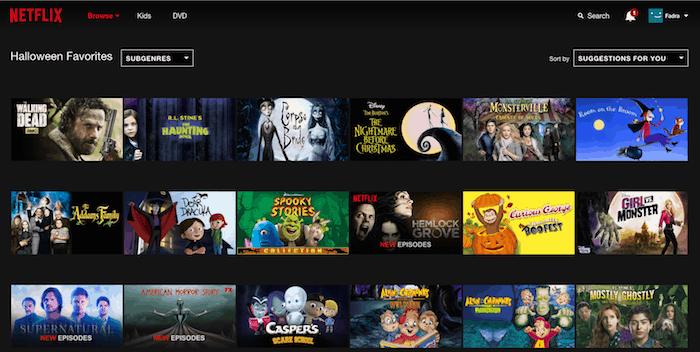 Netflix Halloween Favorites
