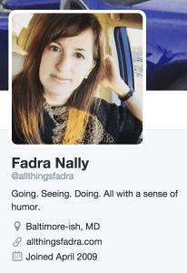 Twitter bio - All Things Fadra