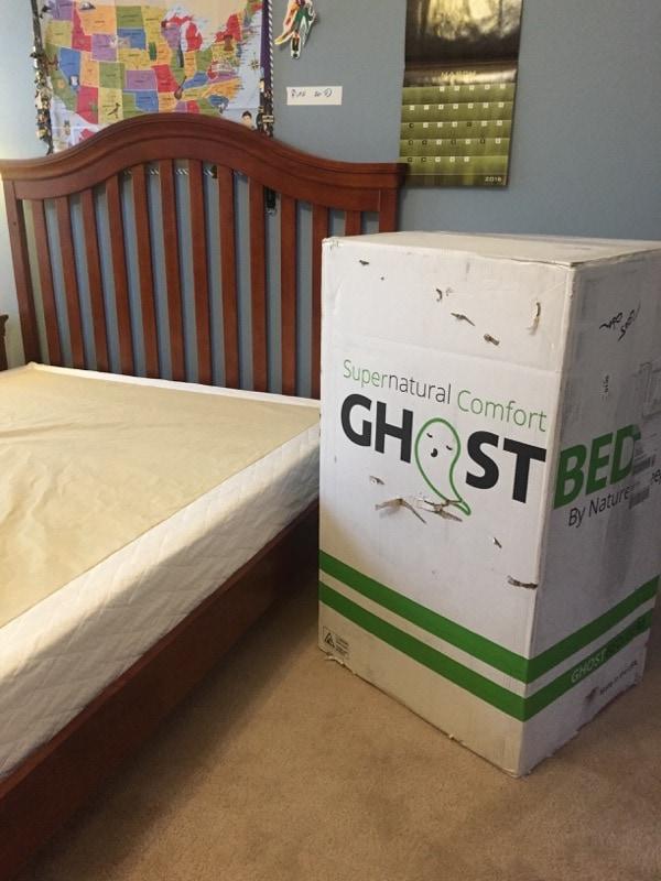 GhostBed mattress box
