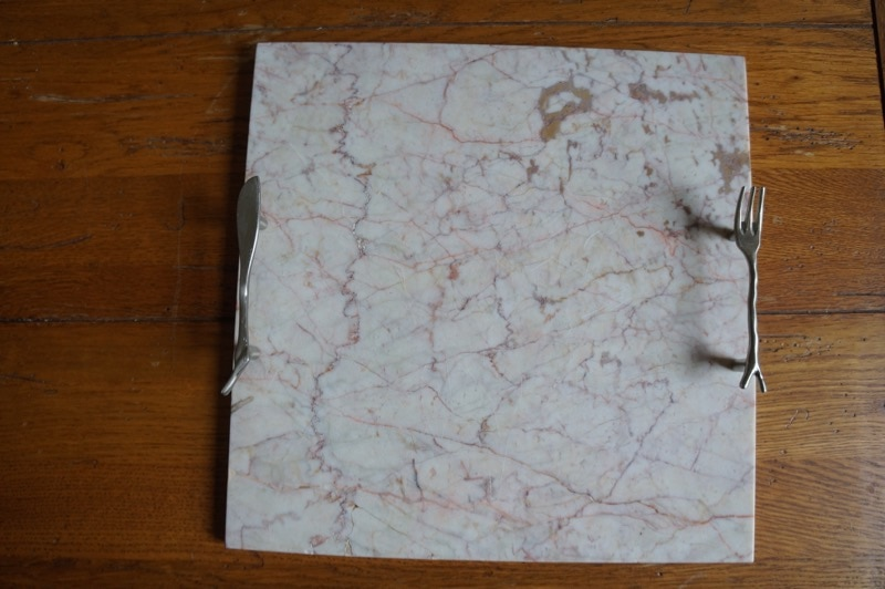 Marble tile cheese cutting board