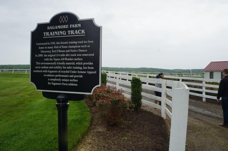 Sagamore Farm training track