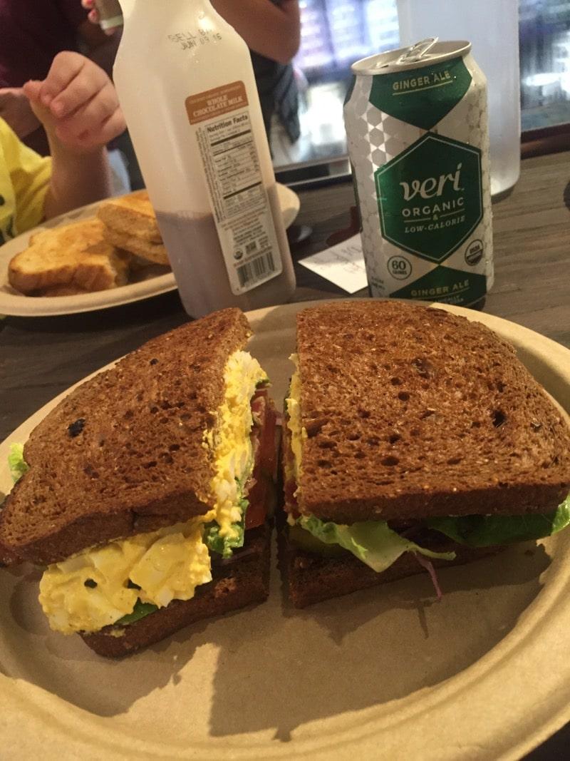 Suzanne's Deviled Egg sandwich