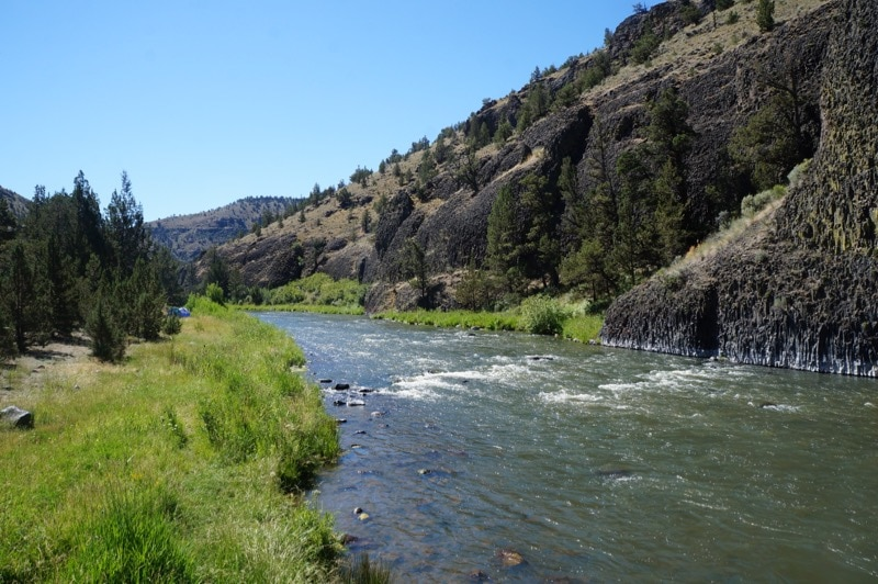 A good spot for fly fishing in the Crooked River