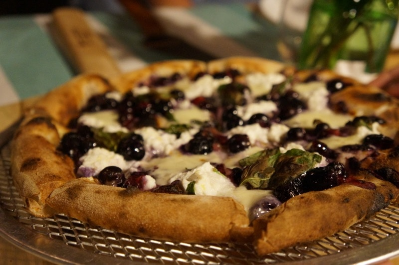 Black & Blue Berry Ricotta Pizza