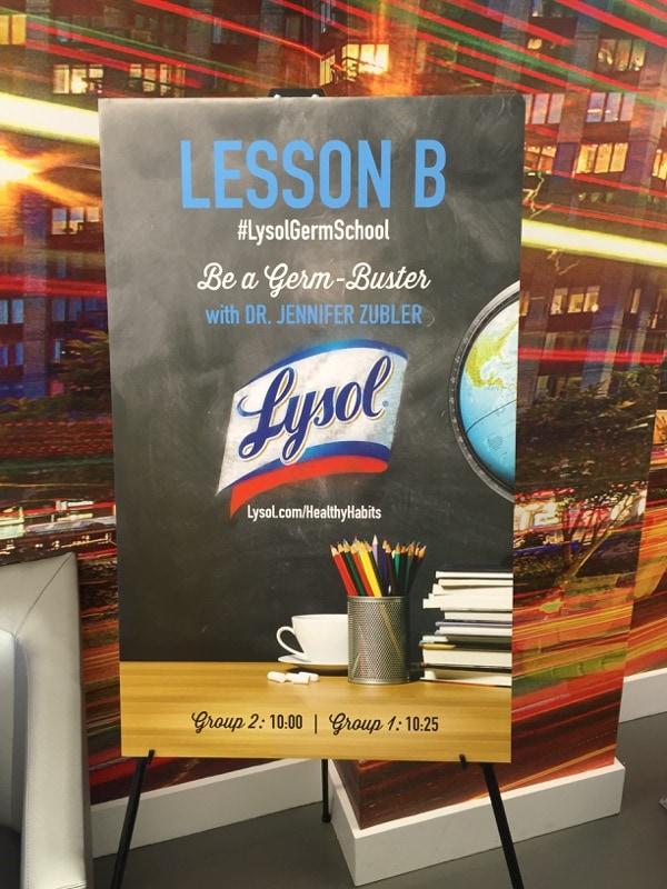 Lysol Germ School Lesson B