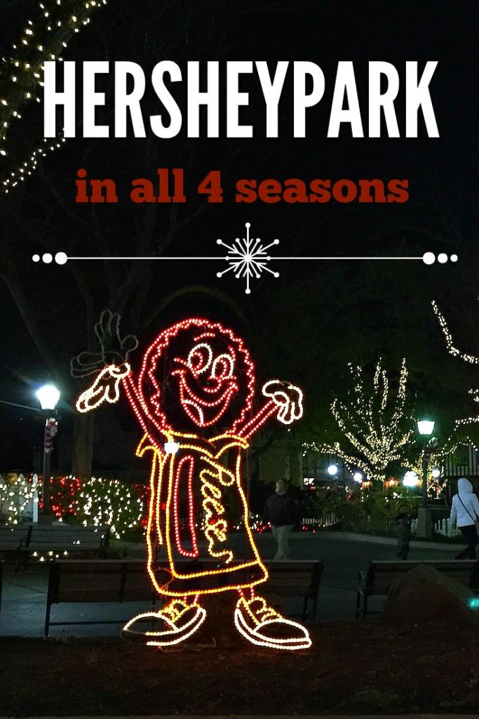 Hersheypark in all four seasons
