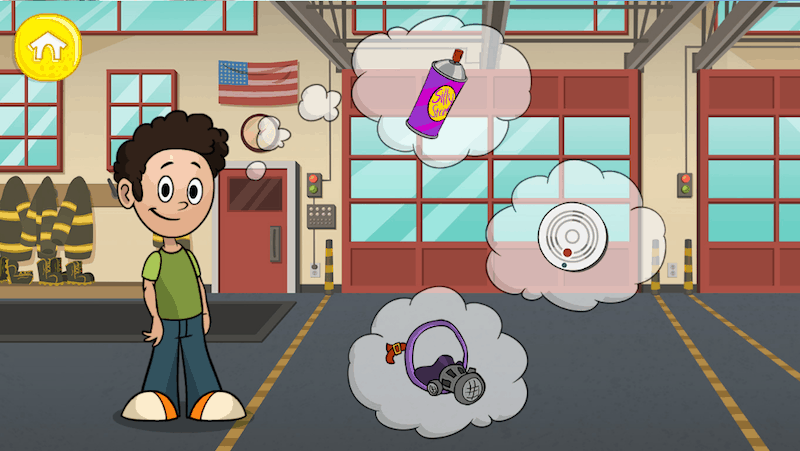 Make Believe in Sparky's Firehouse app