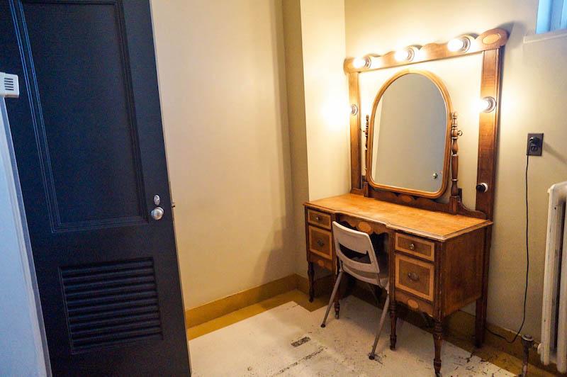 Hershey Theatre dressing room