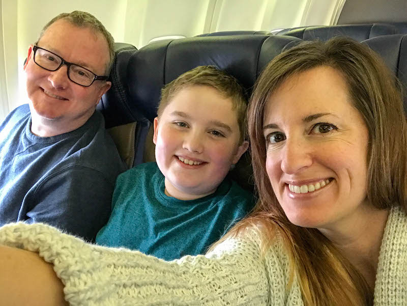 Early morning flight to Disney