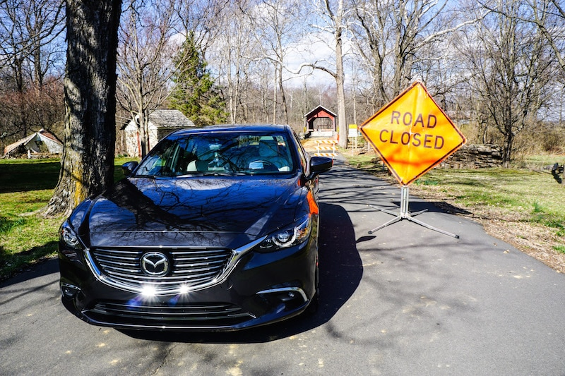 Mazda6 - road closed