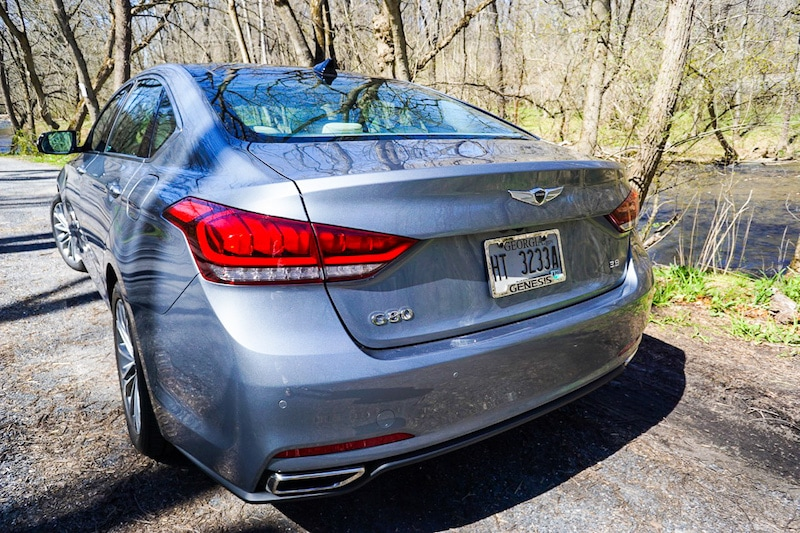 Genesis G80 rear profile