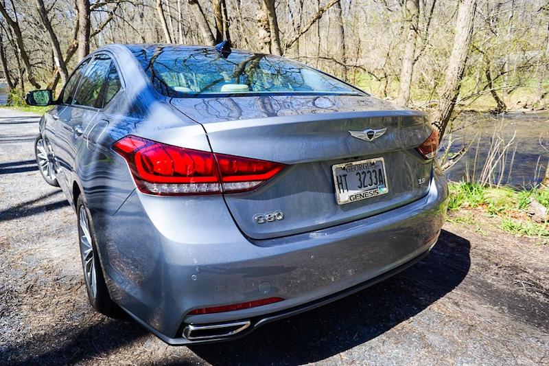 Genesis G80 rear profile