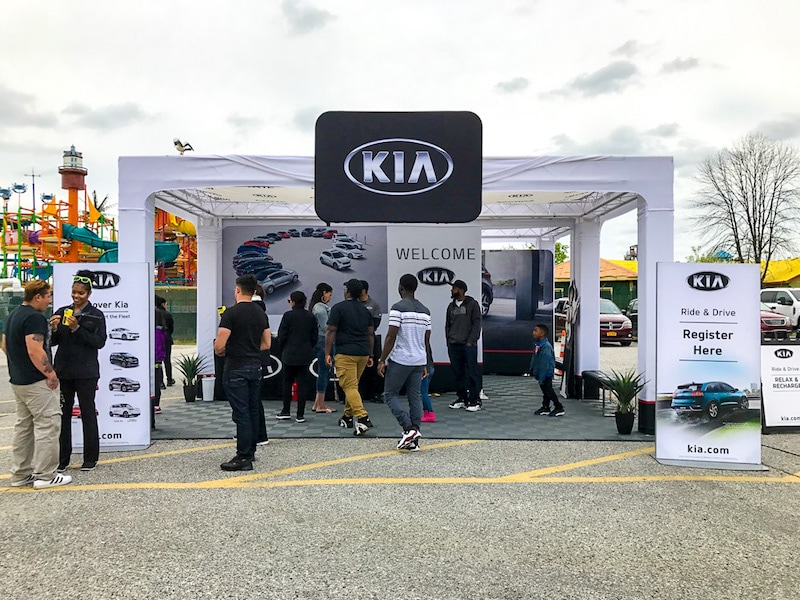 Kia Ride and Drive outside Six Flags