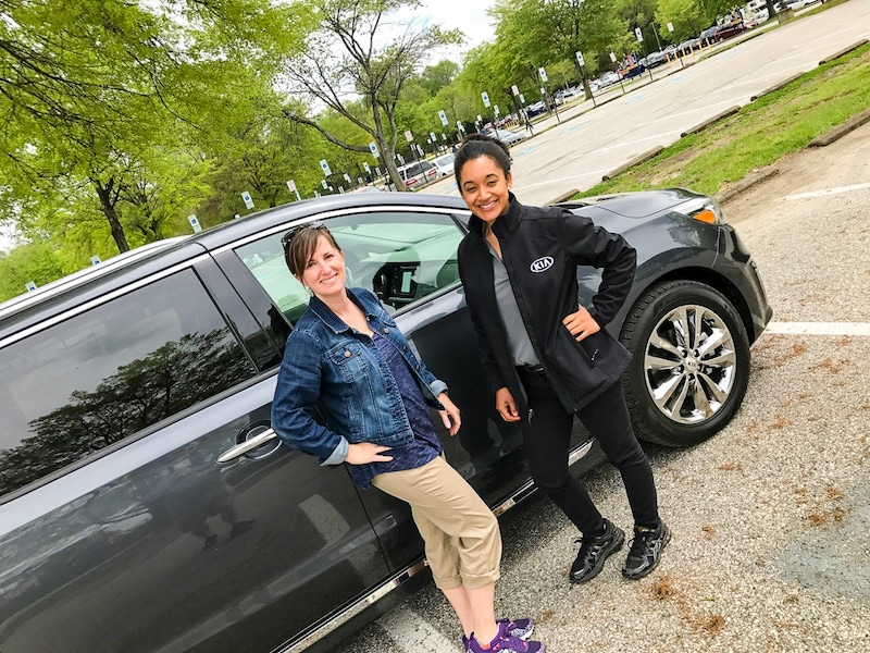 Kia Sedona at the Kia Ride and Drive
