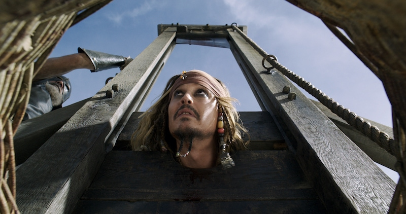 Captain Jack Sparrow learns about the guillotine