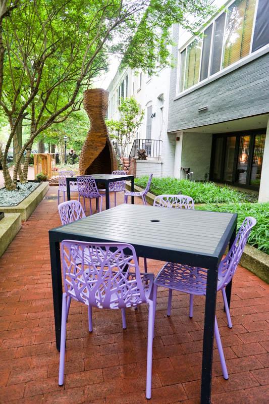 The River Inn - courtyard