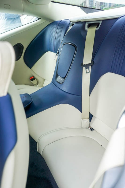 Aston Martin rear seat - Heels & Wheels