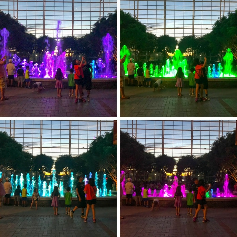 Colorful fountains - Gaylord National