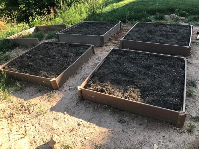 Creating the garden beds
