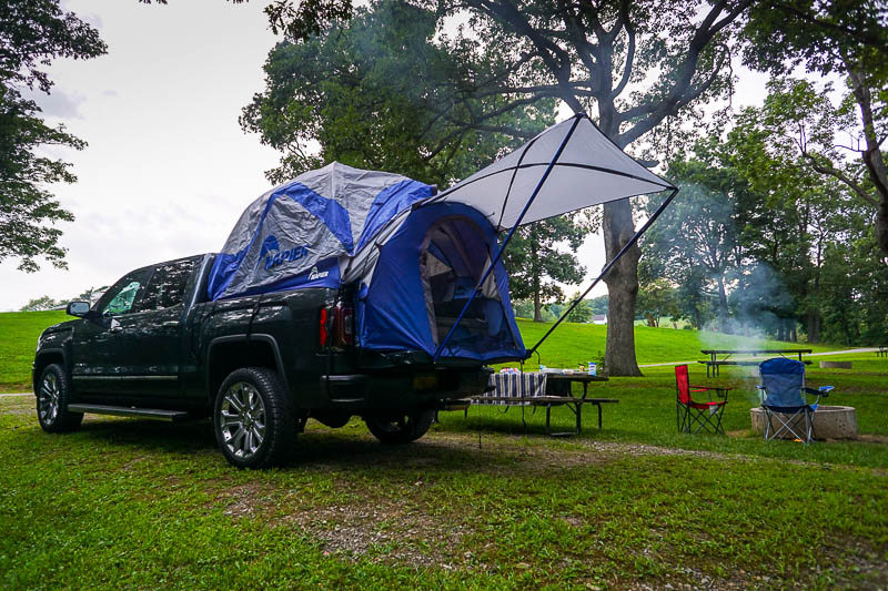 Camping in the GMC Sierra Denali