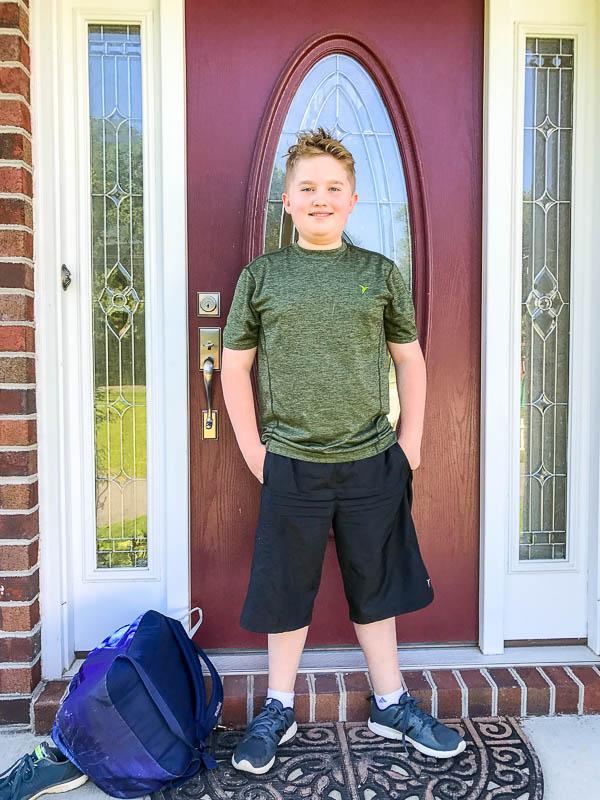Evan's last day of school