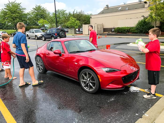 Mazda Miata MX-5 RF car wash